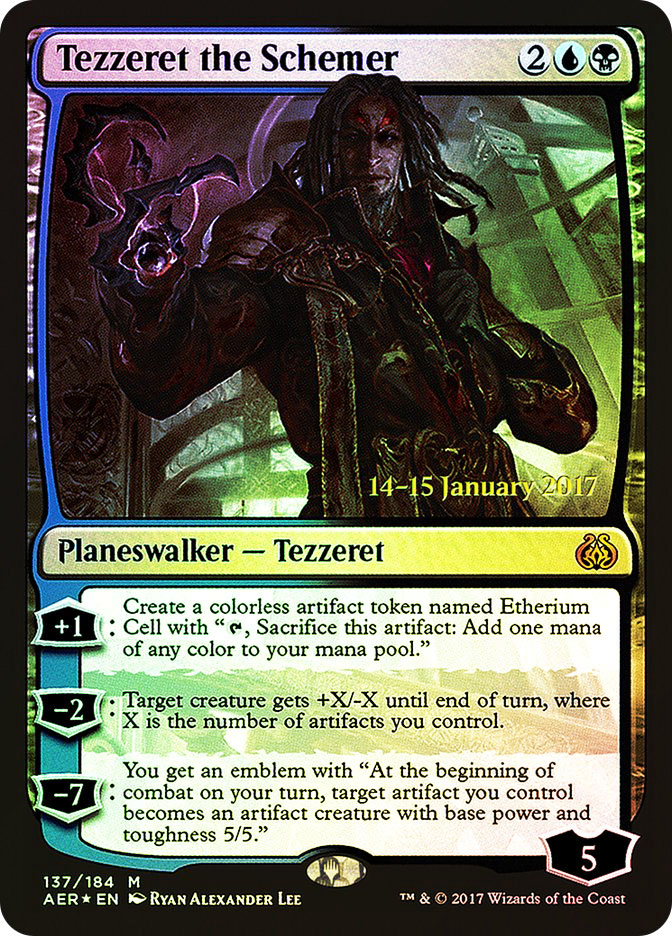 Tezzeret the Schemer (Aether Revolt Prerelease)