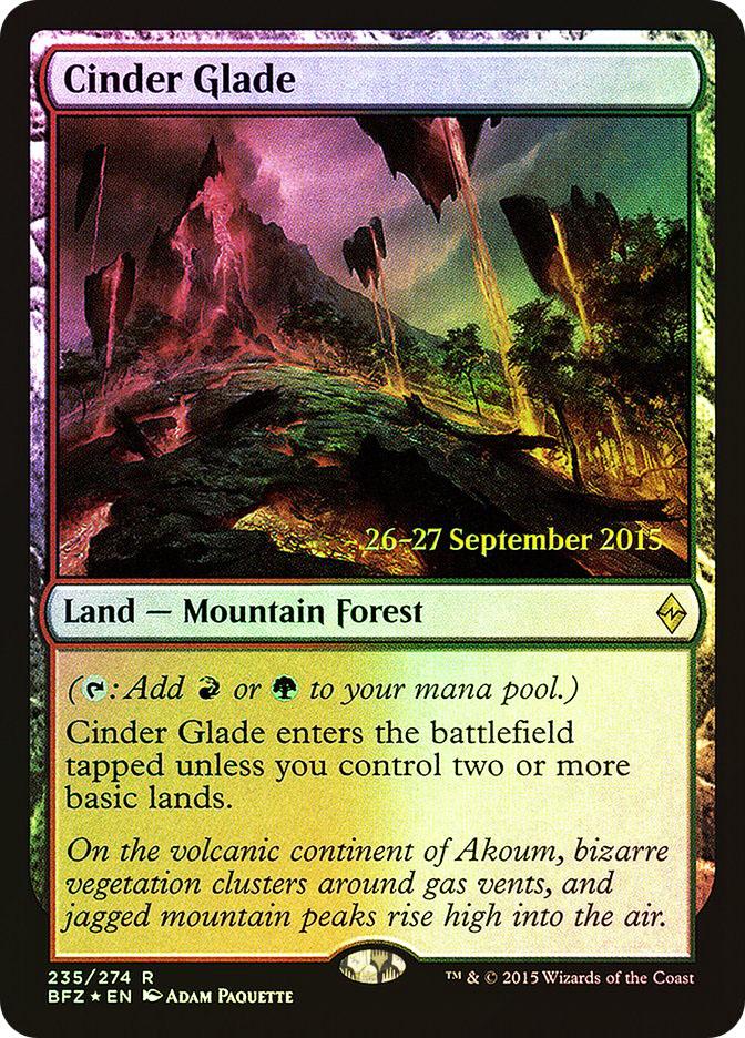 Cinder Glade (Battle for Zendikar Prerelease)
