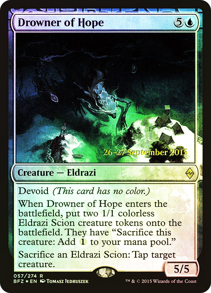 Drowner of Hope (Battle for Zendikar Prerelease)