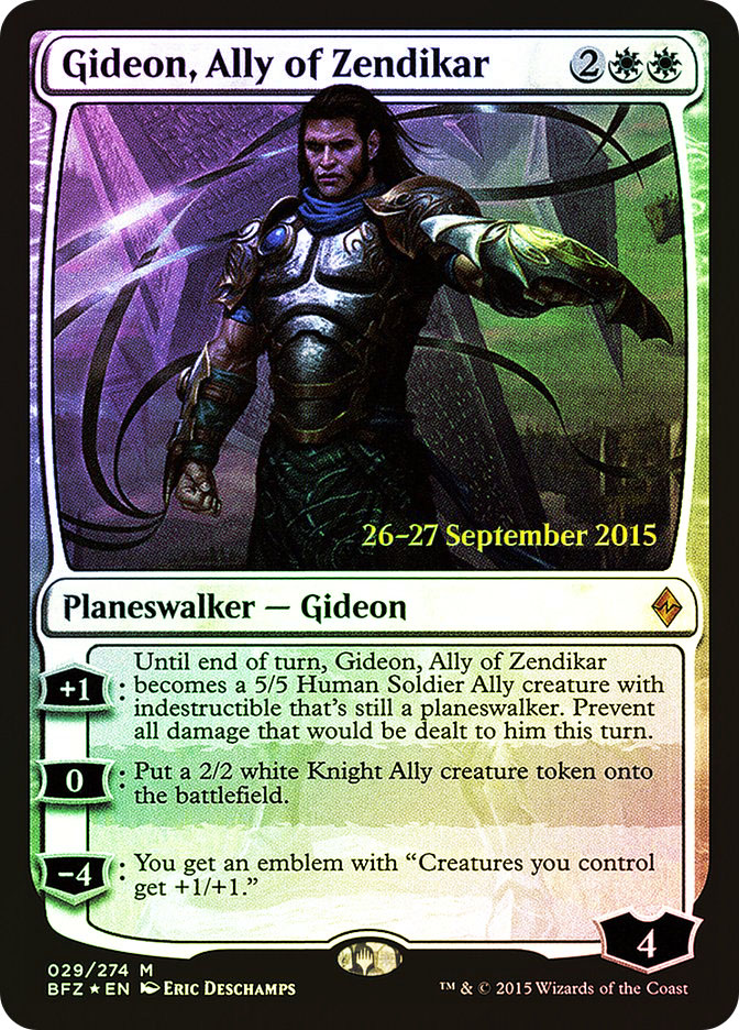 Gideon, Ally of Zendikar (Battle for Zendikar Prerelease)