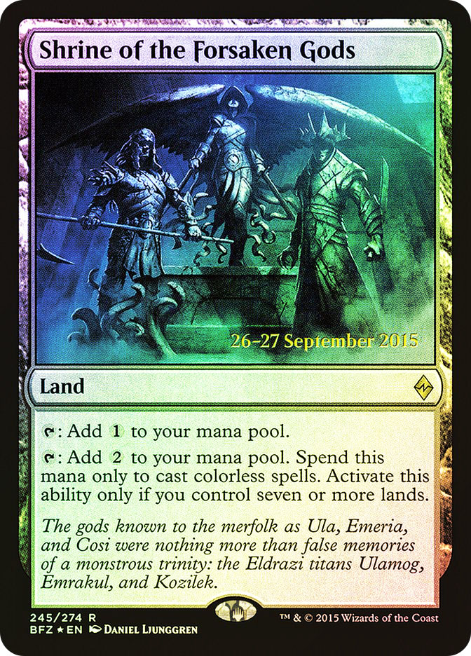 Shrine of the Forsaken Gods (Battle for Zendikar Prerelease)