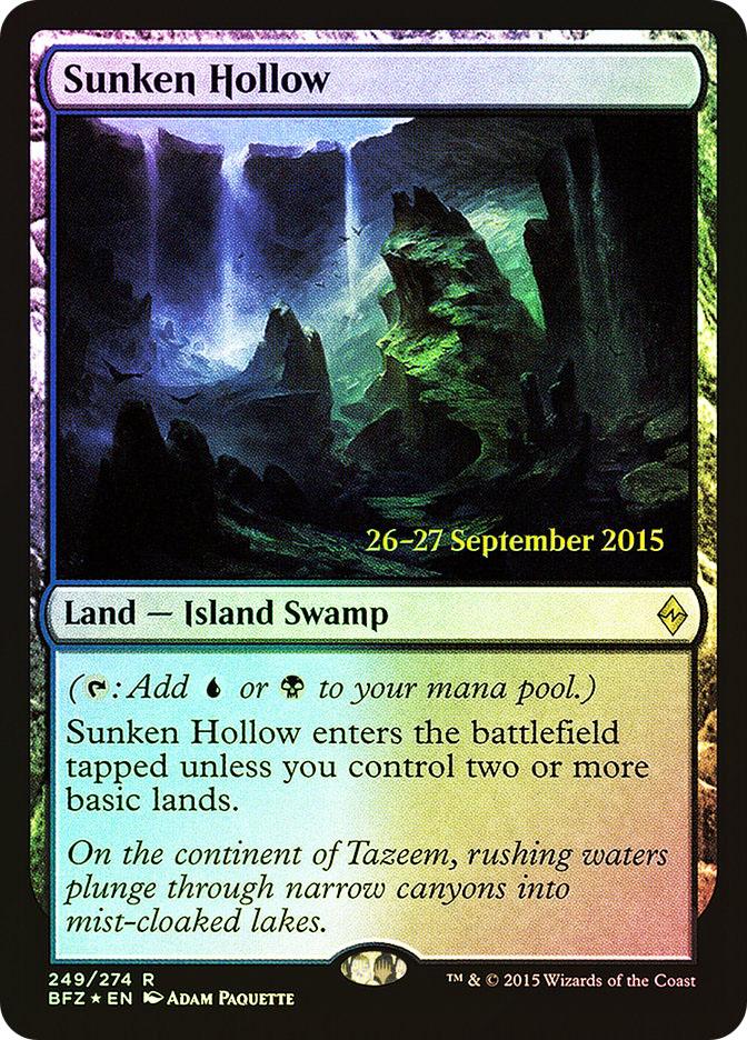 Sunken Hollow (Battle for Zendikar Prerelease)
