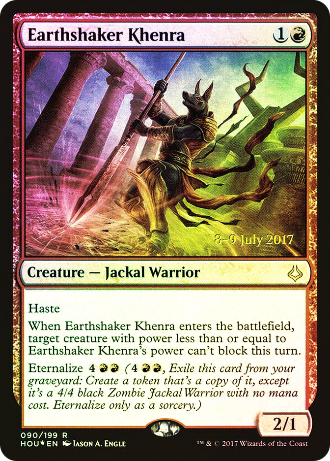 Earthshaker Khenra (Hour of Devastation Prerelease)