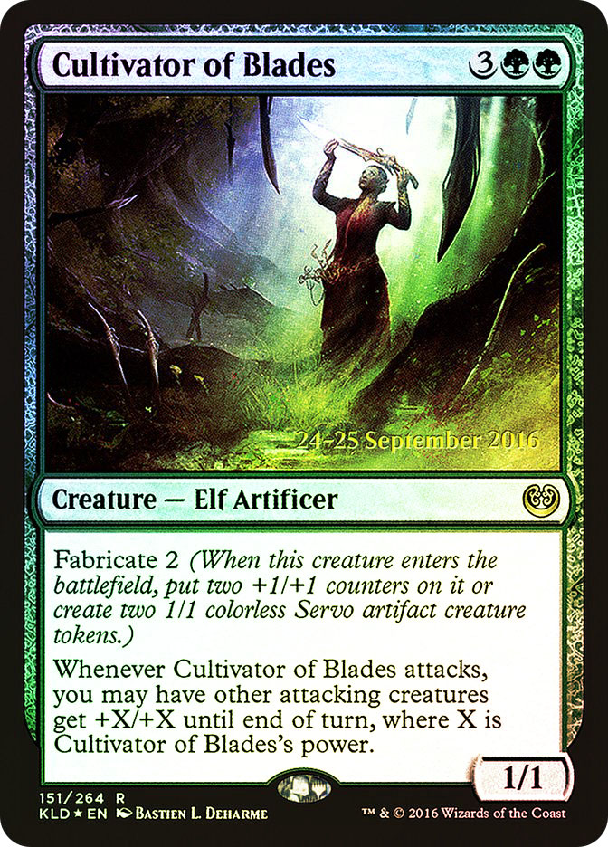 Cultivator of Blades (Kaladesh Prerelease)