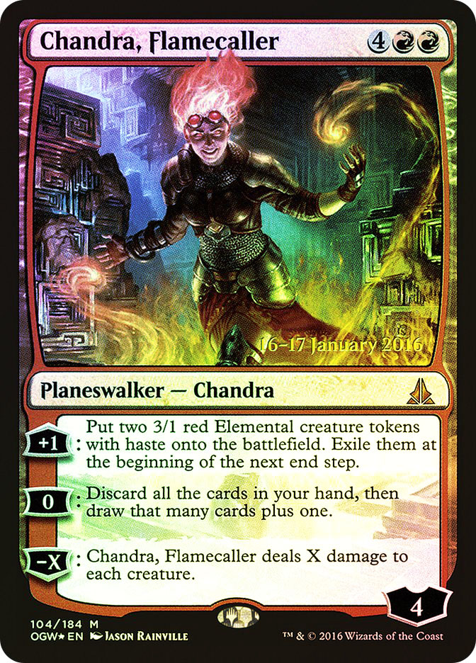 Chandra, Flamecaller (Oath of the Gatewatch Prerelease)