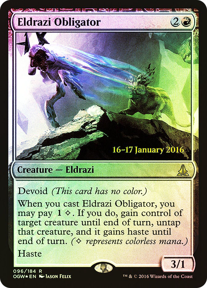 Eldrazi Obligator (Oath of the Gatewatch Prerelease)