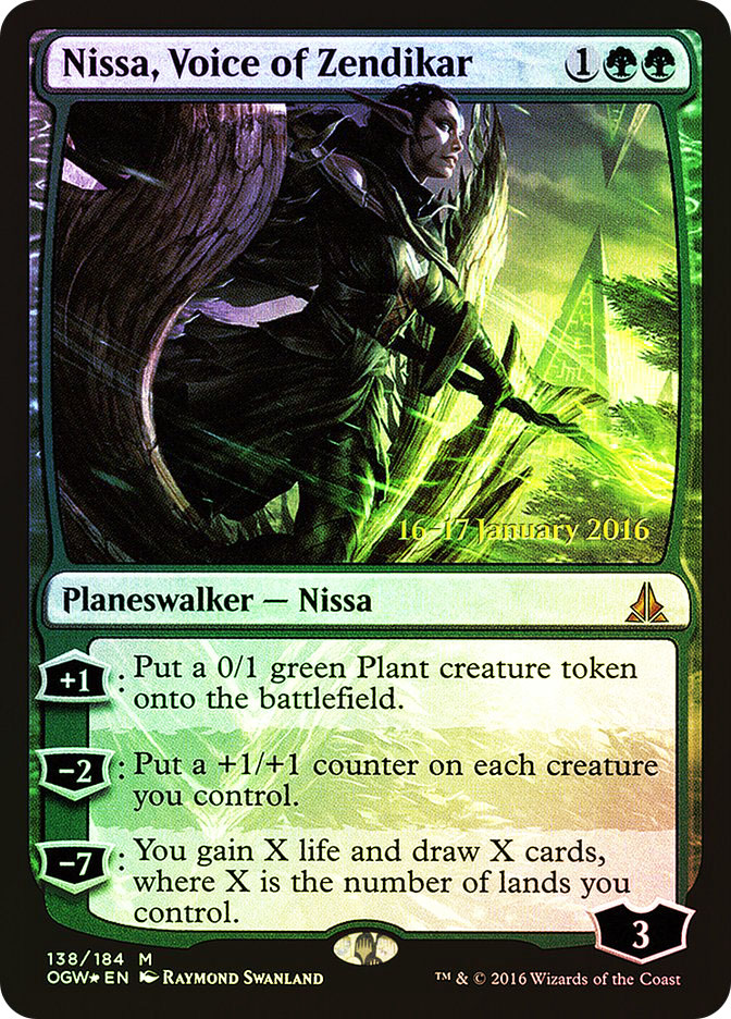 Nissa, Voice of Zendikar (Oath of the Gatewatch Prerelease)