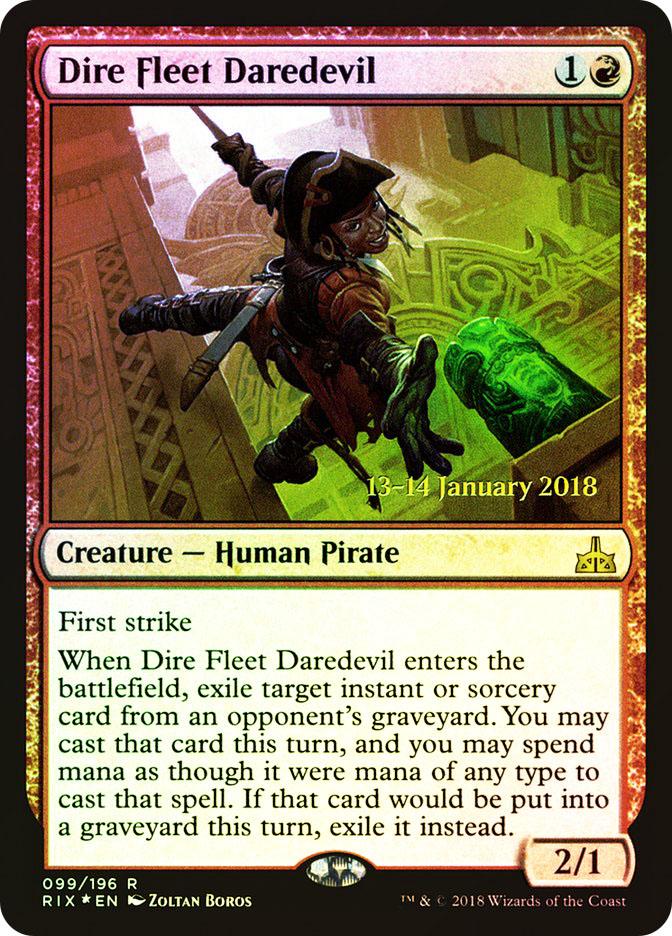 Dire Fleet Daredevil (Rivals of Ixalan Prerelease) (Pre-Order: Ships Jan 19)