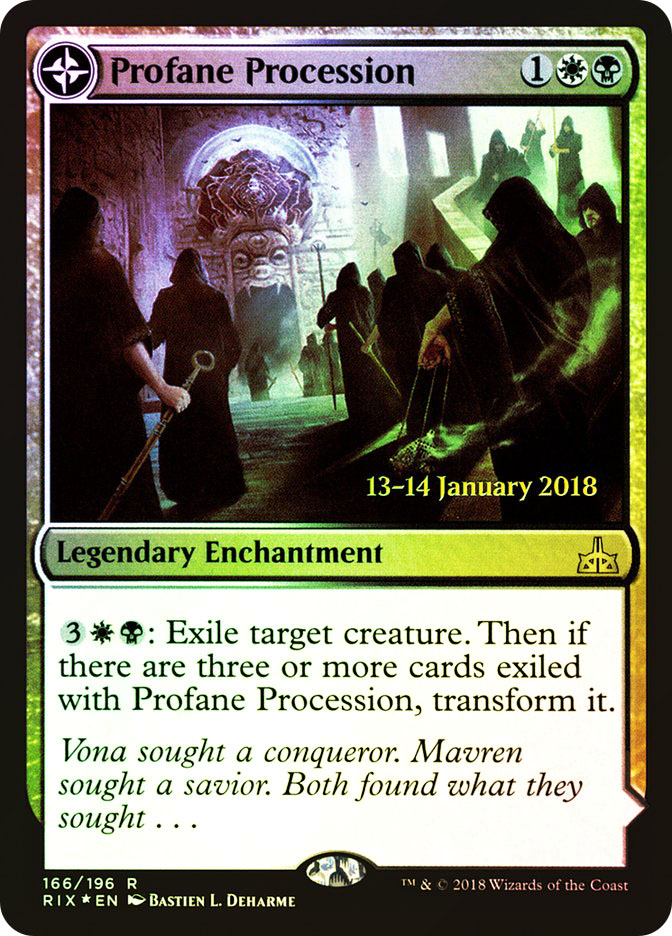 Profane Procession | Tomb of the Dusk Rose (Rivals of Ixalan Prerelease)