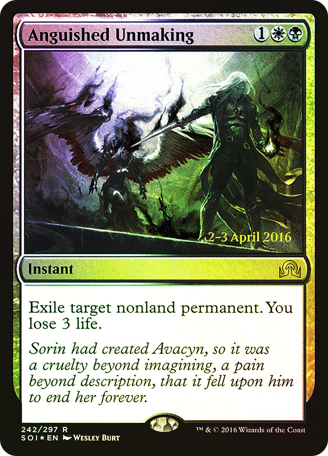 Anguished Unmaking (Shadows over Innistrad Prerelease)