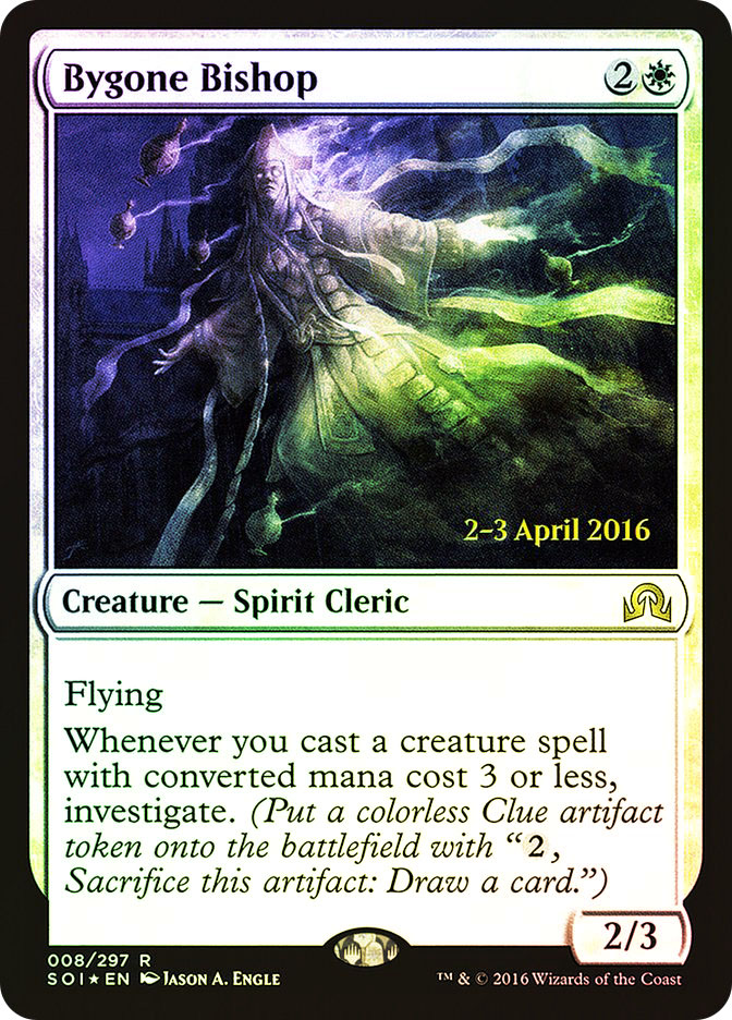 Bygone Bishop (Shadows over Innistrad Prerelease)