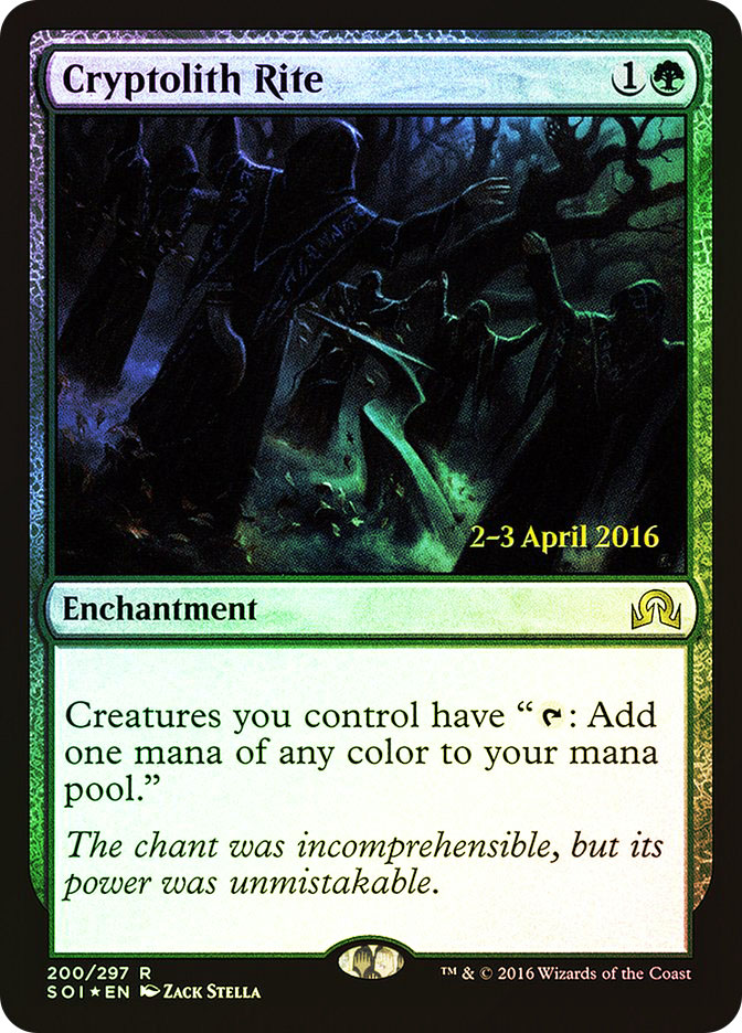 Cryptolith Rite (Shadows over Innistrad Prerelease)