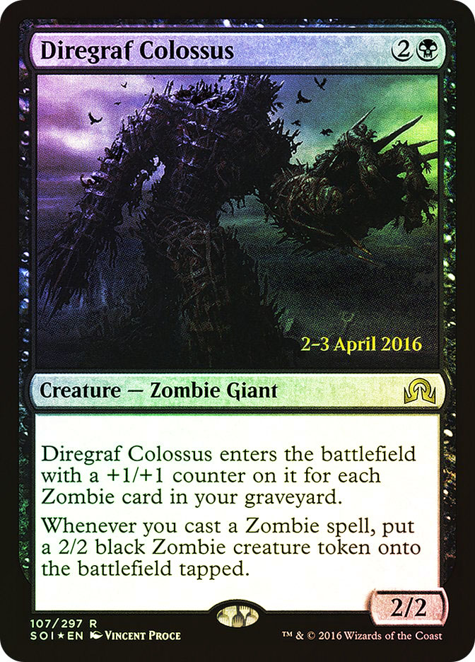 Diregraf Colossus (Shadows over Innistrad Prerelease)