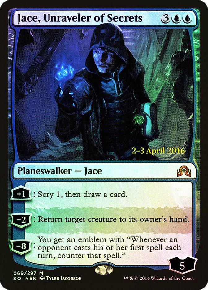 Jace, Unraveler of Secrets (Shadows over Innistrad Prerelease)