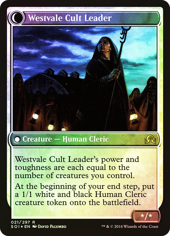 Hanweir Militia Captain | Westvale Cult Leader (Shadows over Innistrad Prerelease)