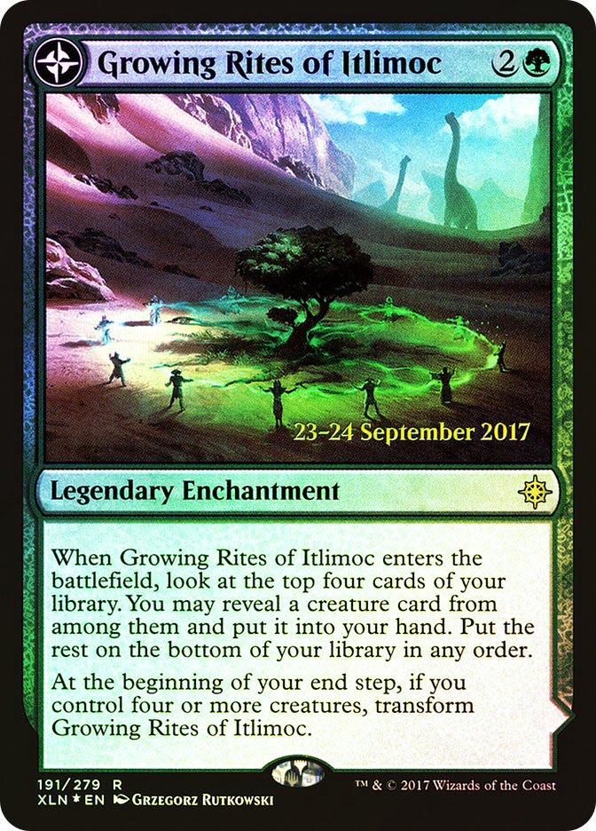 Growing Rites of Itlimoc | Itlimoc, Cradle of the Sun (Ixalan Prerelease)