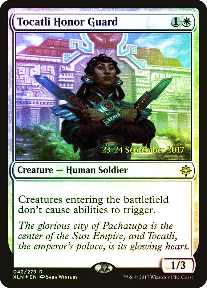 Tocatli Honor Guard (Ixalan Prerelease)