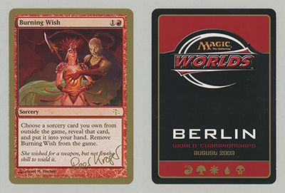 Burning Wish (Peer Kroger 2003) (Not Tournament Legal)