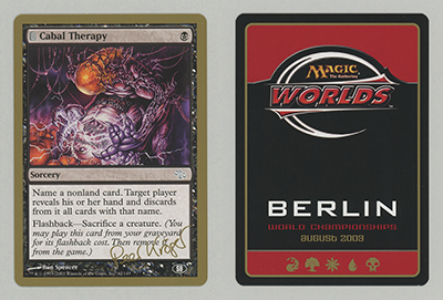 Cabal Therapy (Peer Kroger 2003) (Sideboard) (Not Tournament Legal)
