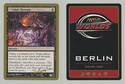 Cabal Therapy (Wolfgang Eder 2003) (Sideboard) (Not Tournament Legal)