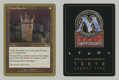 Grim Monolith (Kai Budde 1999) (Not Tournament Legal)