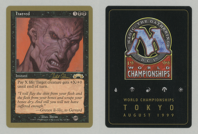 Hatred Magic card – Magic Invitational Cards