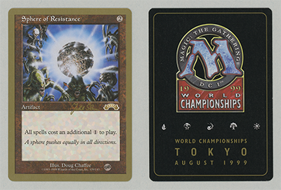 Sphere of Resistance (Jakub Slemr 1999) (Sideboard) (Not Tournament Legal)
