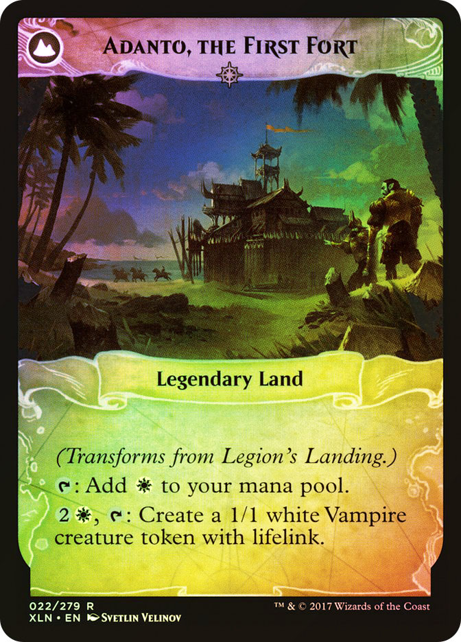 Adanto, the First Fort (Ixalan Prerelease) (Flip side of the multi-part card Legion\