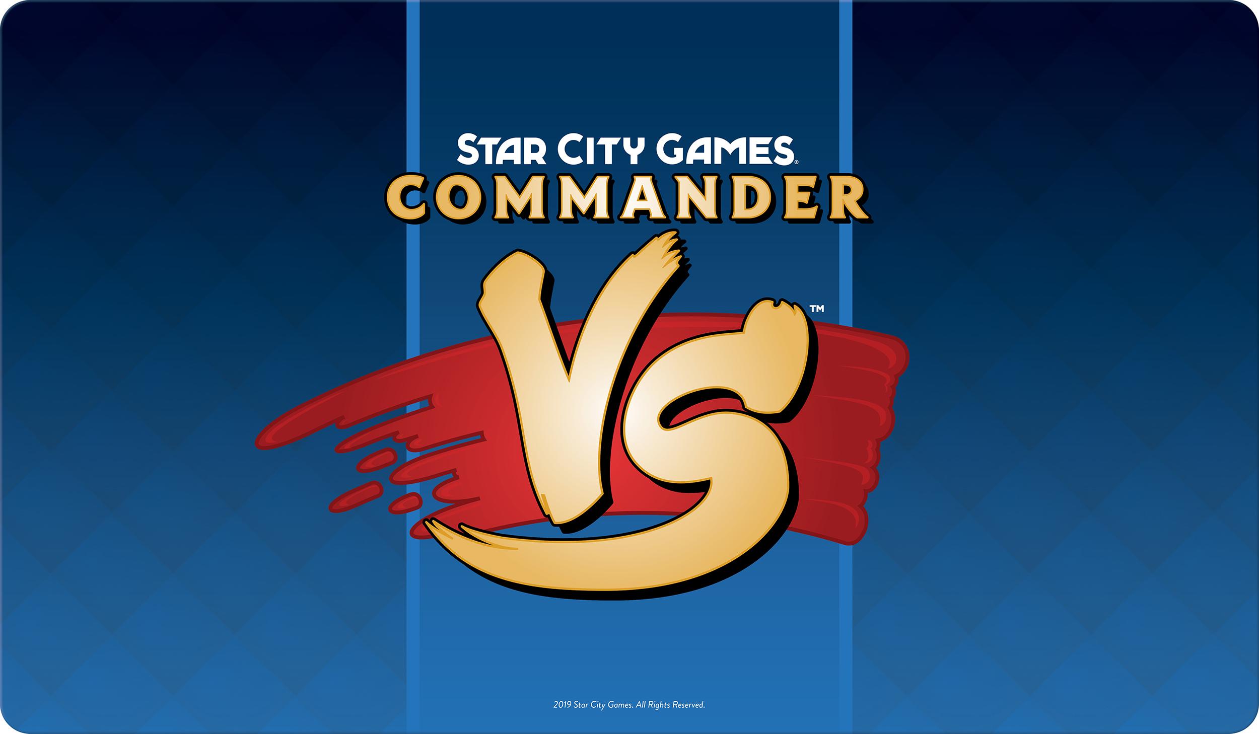 Star City Games Playmat Commander VS - Blue