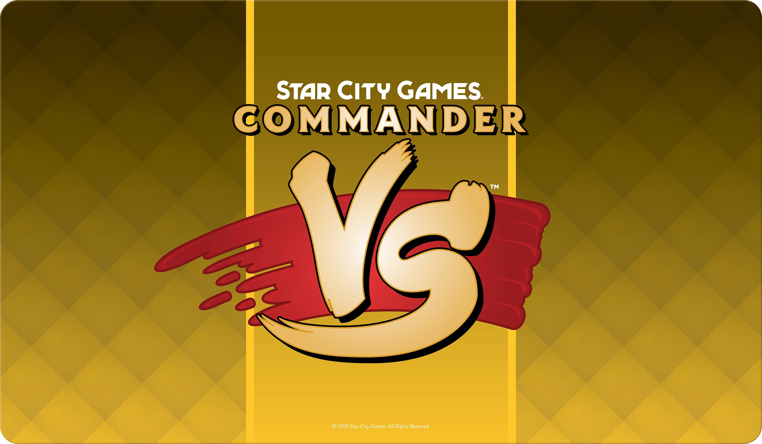 Star City Games Playmat Commander VS - Gold