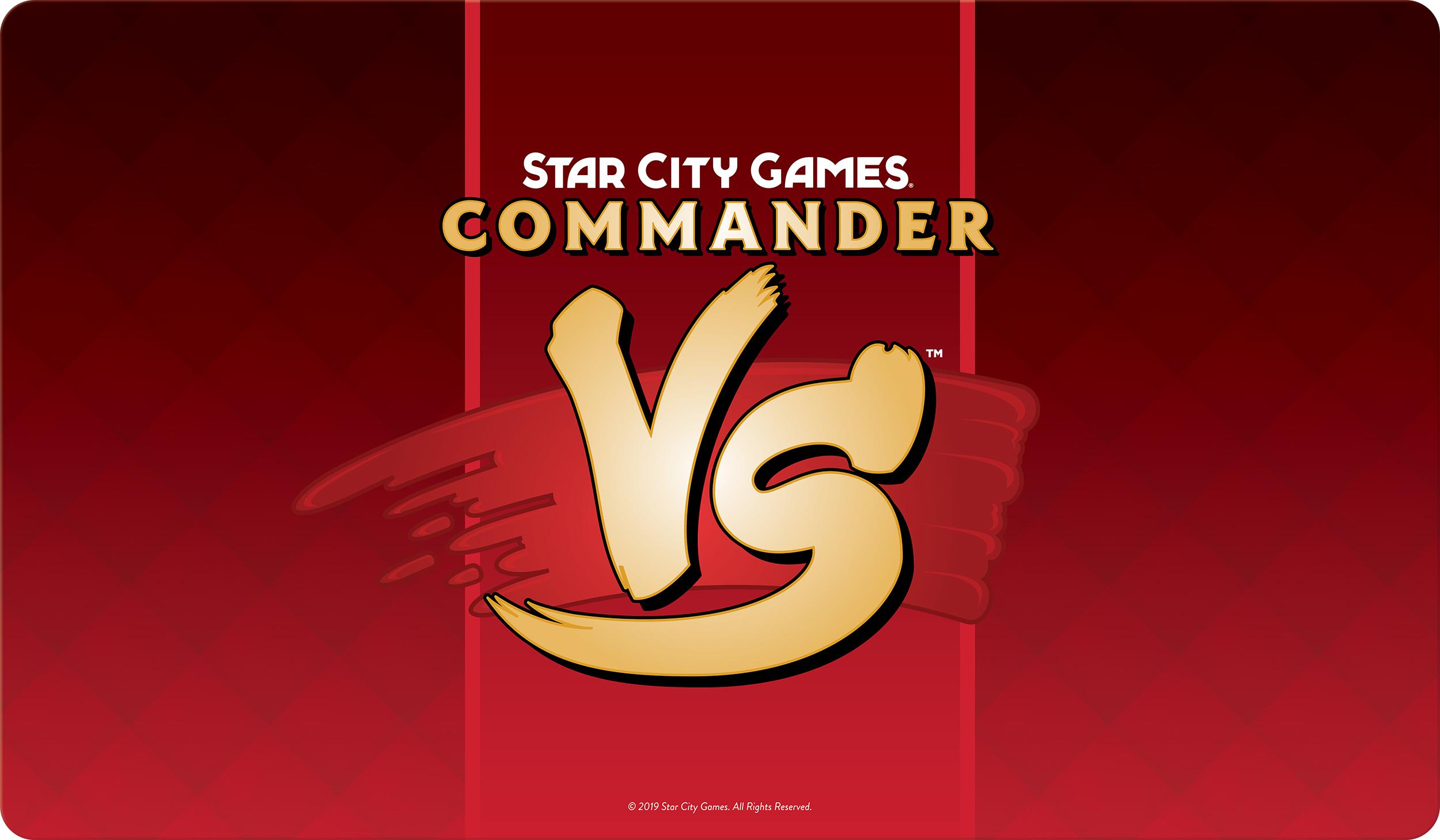 Star City Games Playmat Commander VS - Red