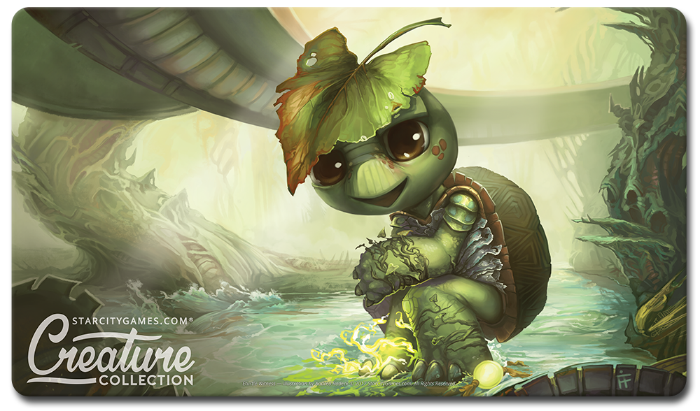 StarCityGames.com Playmat - Creature Collection - Eturtle Witness