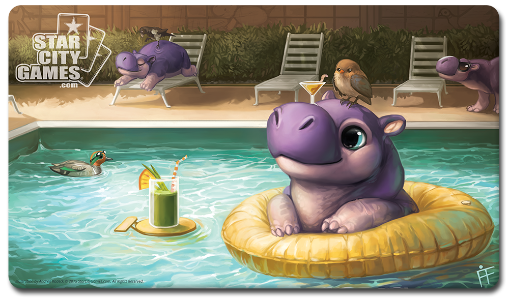 StarCityGames.com Playmat - Creature Collection - Hippo
