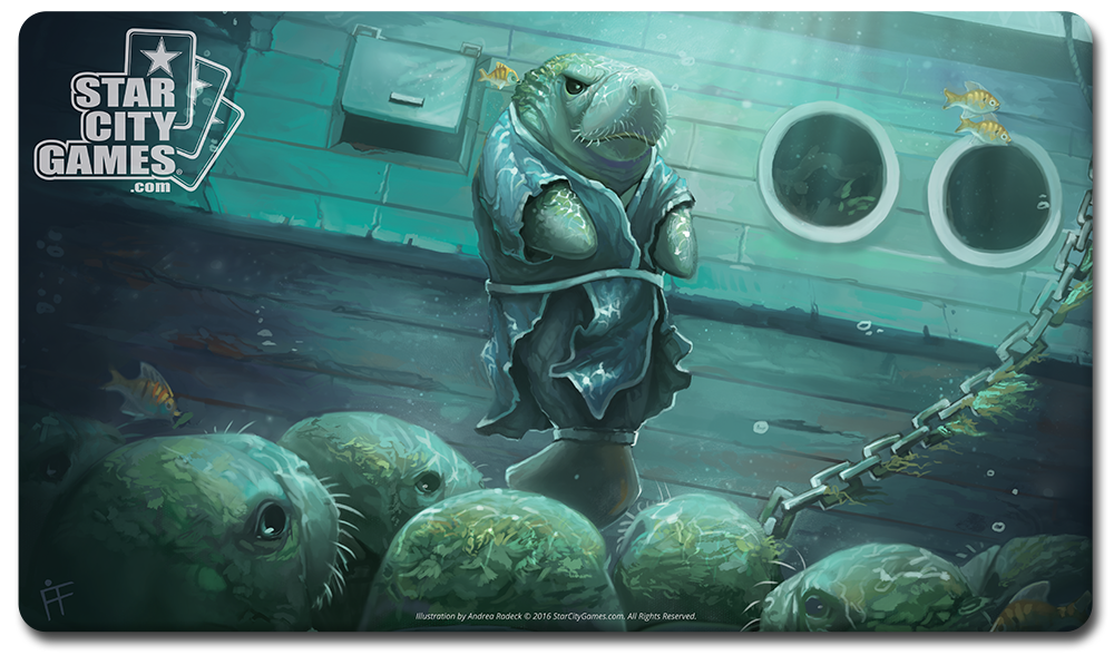 StarCityGames.com Playmat - Creature Collection - Manateery Mentor