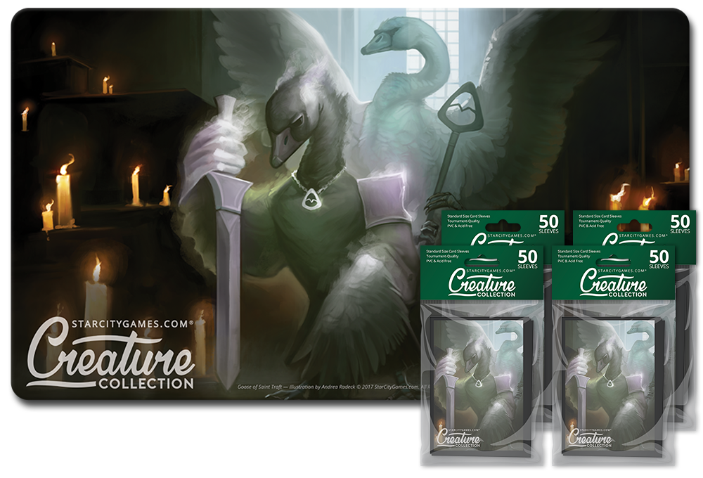 StarCityGames.com Player Bundle - Creature Collection - Goose of Saint Traft (Playmat and 4x Matte Sleeves)
