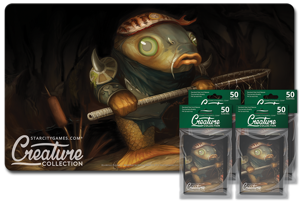 StarCityGames.com Player Bundle - Creature Collection - Murderous Redcarp (Playmat and 4x Matte Sleeves)