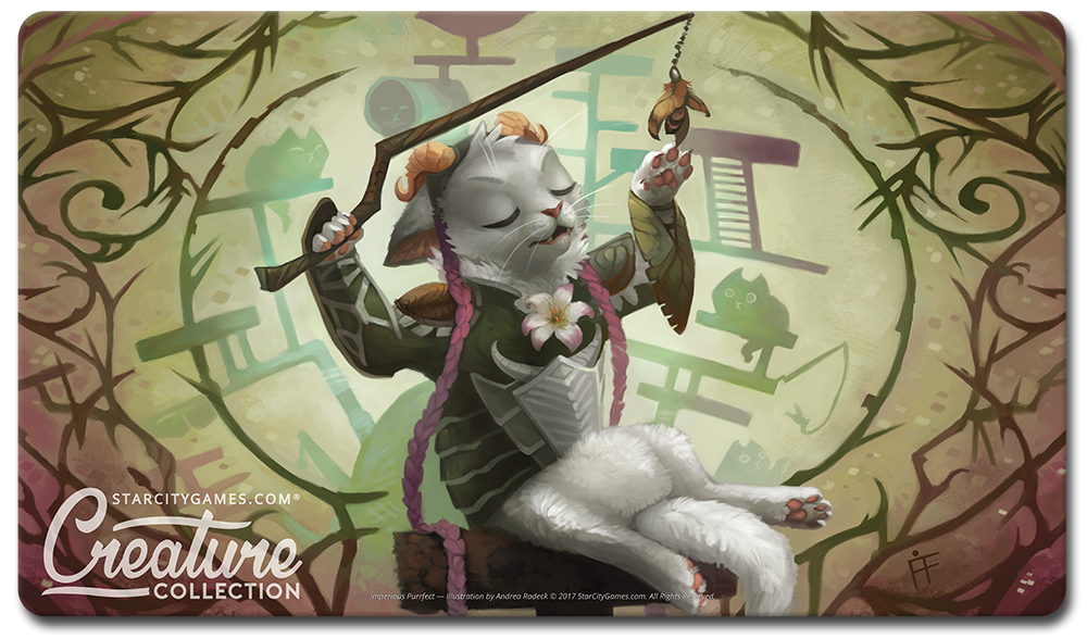 StarCityGames.com Playmat - Creature Collection - Imperious Purrfect