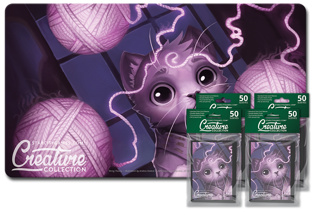 StarCityGames.com Player Bundle - Creature Collection - String Theory (Playmat and 4x Matte Sleeves)