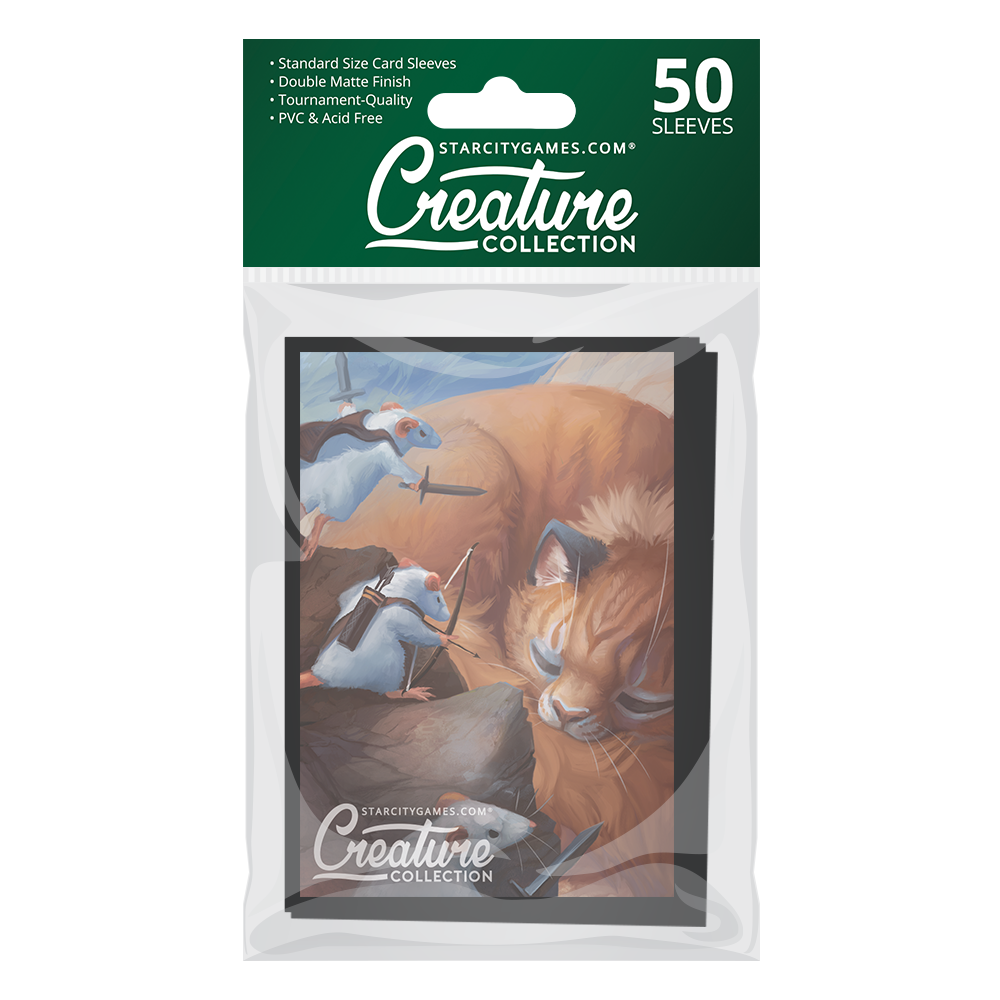 StarCityGames.com Matte Sleeves - Creature Collection - Three Brave Mice
