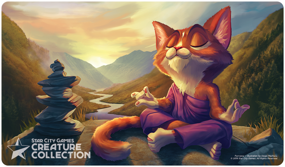 StarCityGames.com Playmat - Prerelease Exclusive Creature Collection - Purrvana
