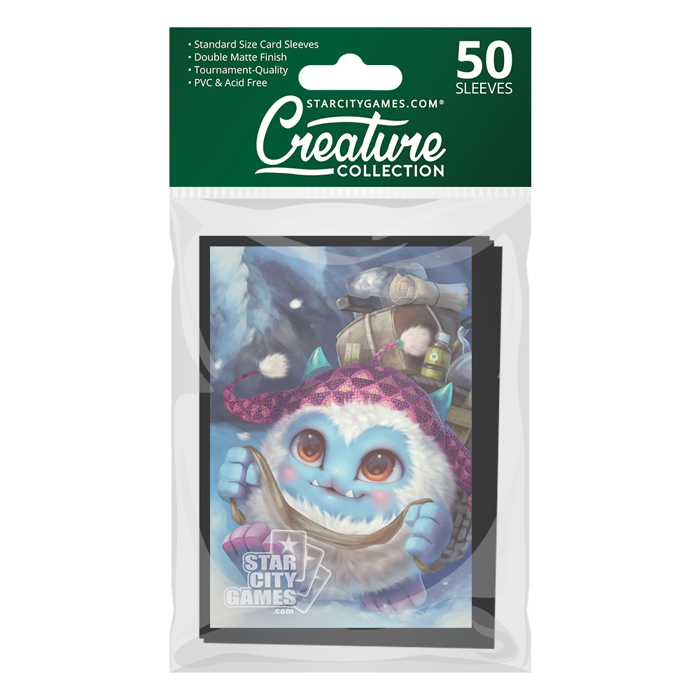 StarCityGames.com Matte Sleeves - Creature Collection - Yeti, Steady, Go!