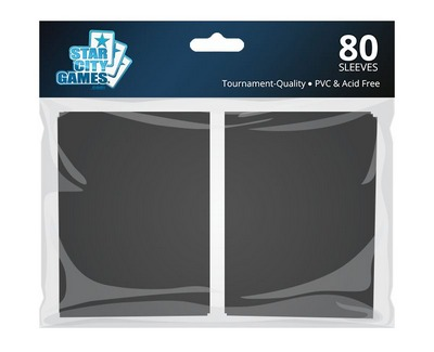 StarCityGames.com Sleeves - Double Matte Black (80 ct.)