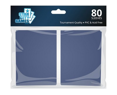 StarCityGames.com Sleeves - Double Matte Blue (80 ct.)