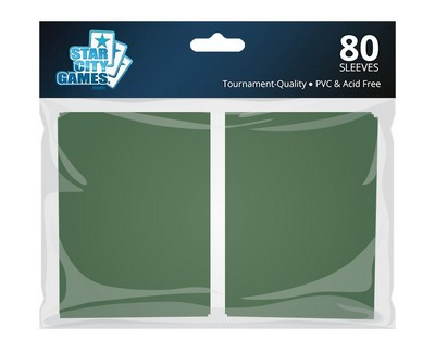 StarCityGames.com Sleeves - Double Matte Green (80 ct.)