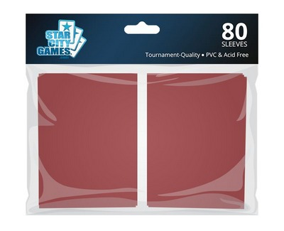 StarCityGames.com Sleeves - Double Matte Red (80 ct.)