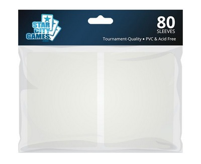 StarCityGames.com Sleeves - Double Matte White (80 ct.)
