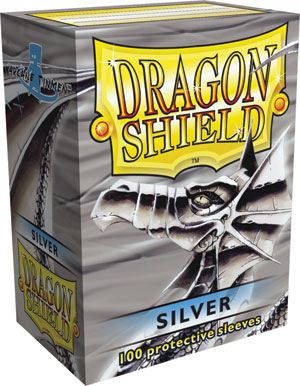 Dragon Shield Sleeves - Silver (100 ct.)