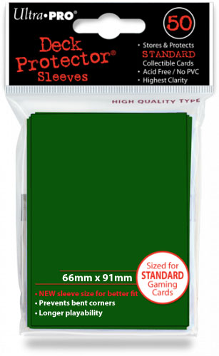 Ultra Pro Solid Color Sleeves - Green (50 ct.)