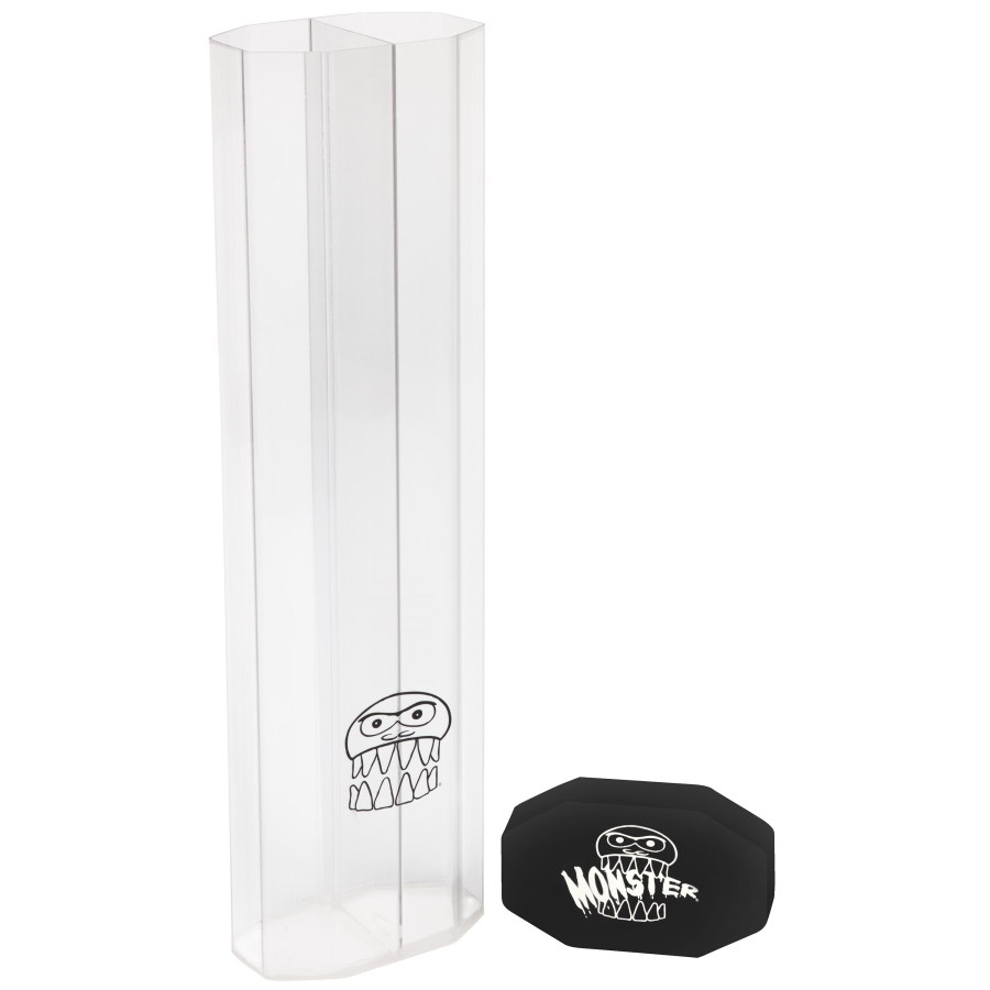 - Monster Prism Dual Playmat Tube - Clear w/ Black Cap