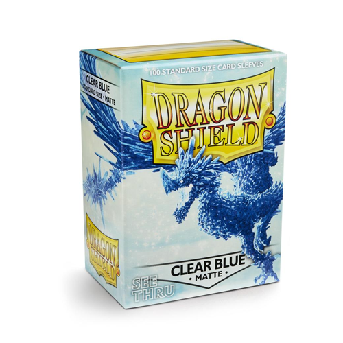 Dragon Shield Matte Sleeves - Matte Clear Blue